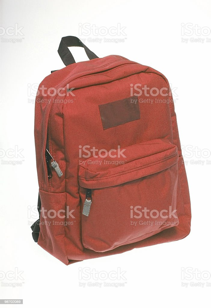 red back pack royalty-free stock photo