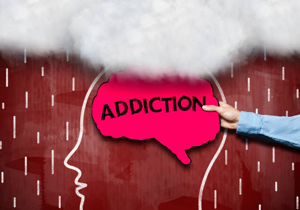 ADDICTION / Red background concept (Click for more) ADDICTION / Red background concept (Click for more) nicotine stock pictures, royalty-free photos & images