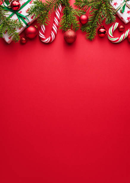 red background for merry christmas and happy new year design - happy holidays stock pictures, royalty-free photos & images