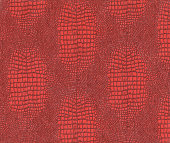 Red background, lizard skin