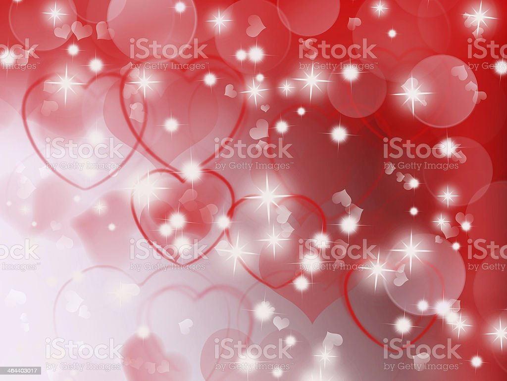 Red background with hearts stock photo