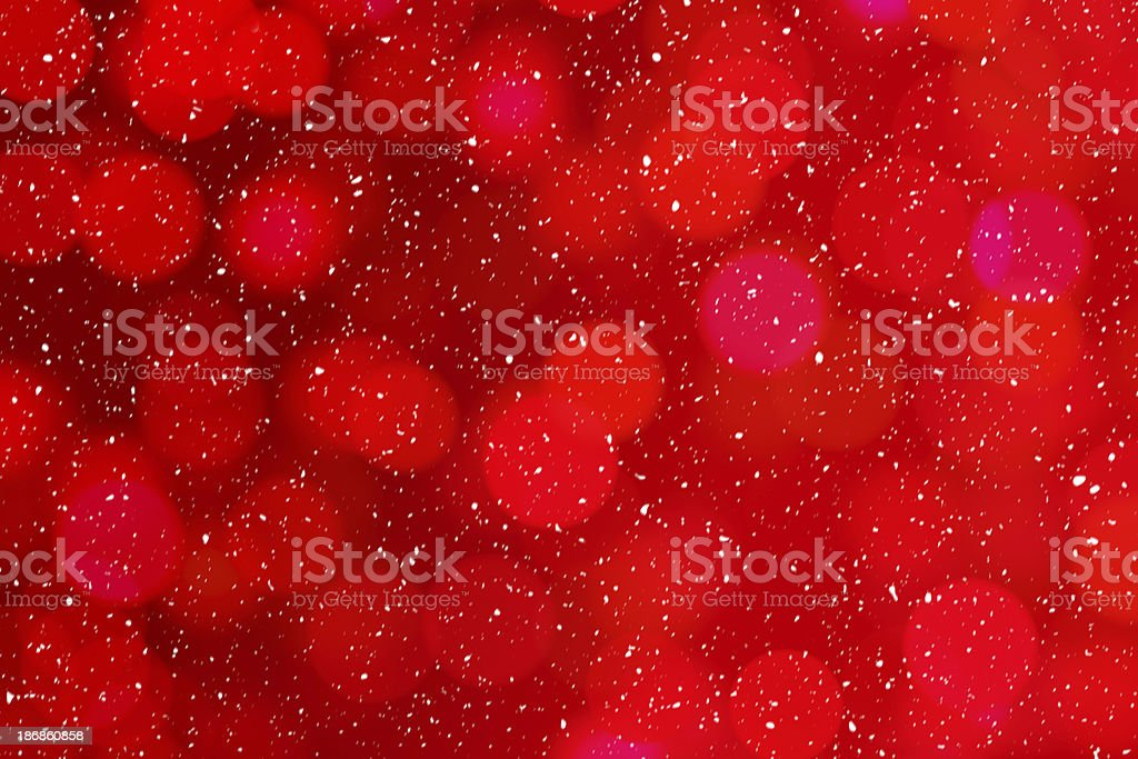 red background with snowing royalty-free stock photo
