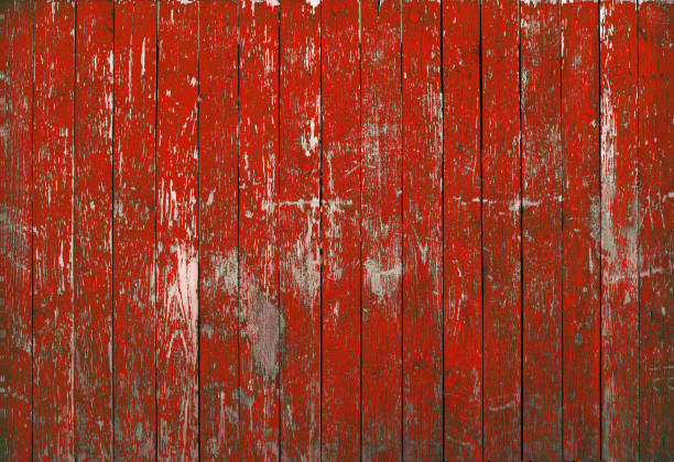 red background wood texture red background wood texture. Vintage old fence with peeling paint red. barn stock pictures, royalty-free photos & images