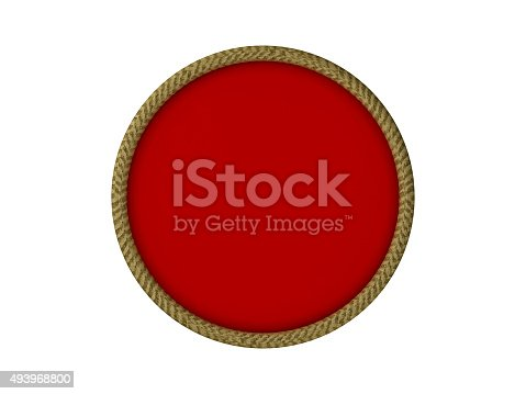 istock Red Badge on white background 493968800