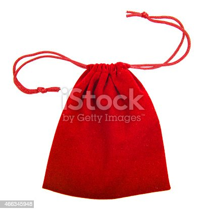 istock Red bag isolated on white background. 466345948