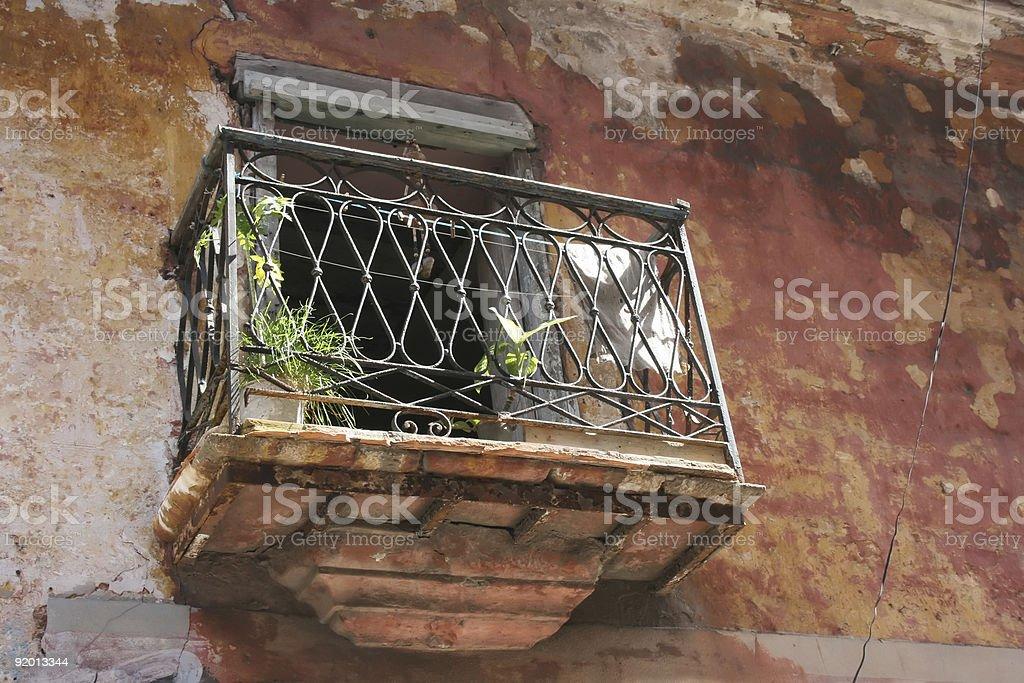 Red Balcony stock photo