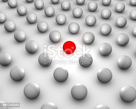 3D different red ball.