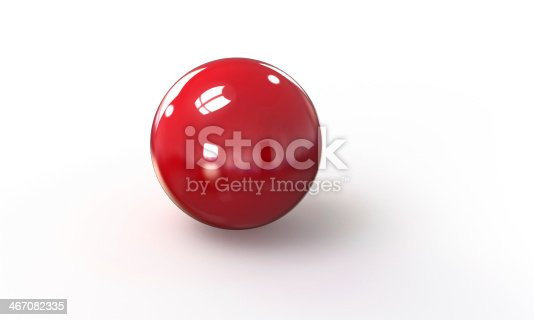 453066423 istock photo red ball shpere 3d model isolated on white 467082335