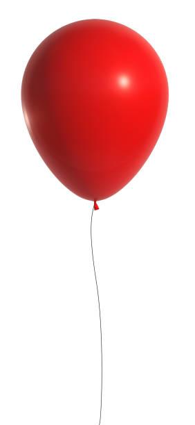 赤いバルーン 3d レンダリング - 風船 ストックフォトと画像