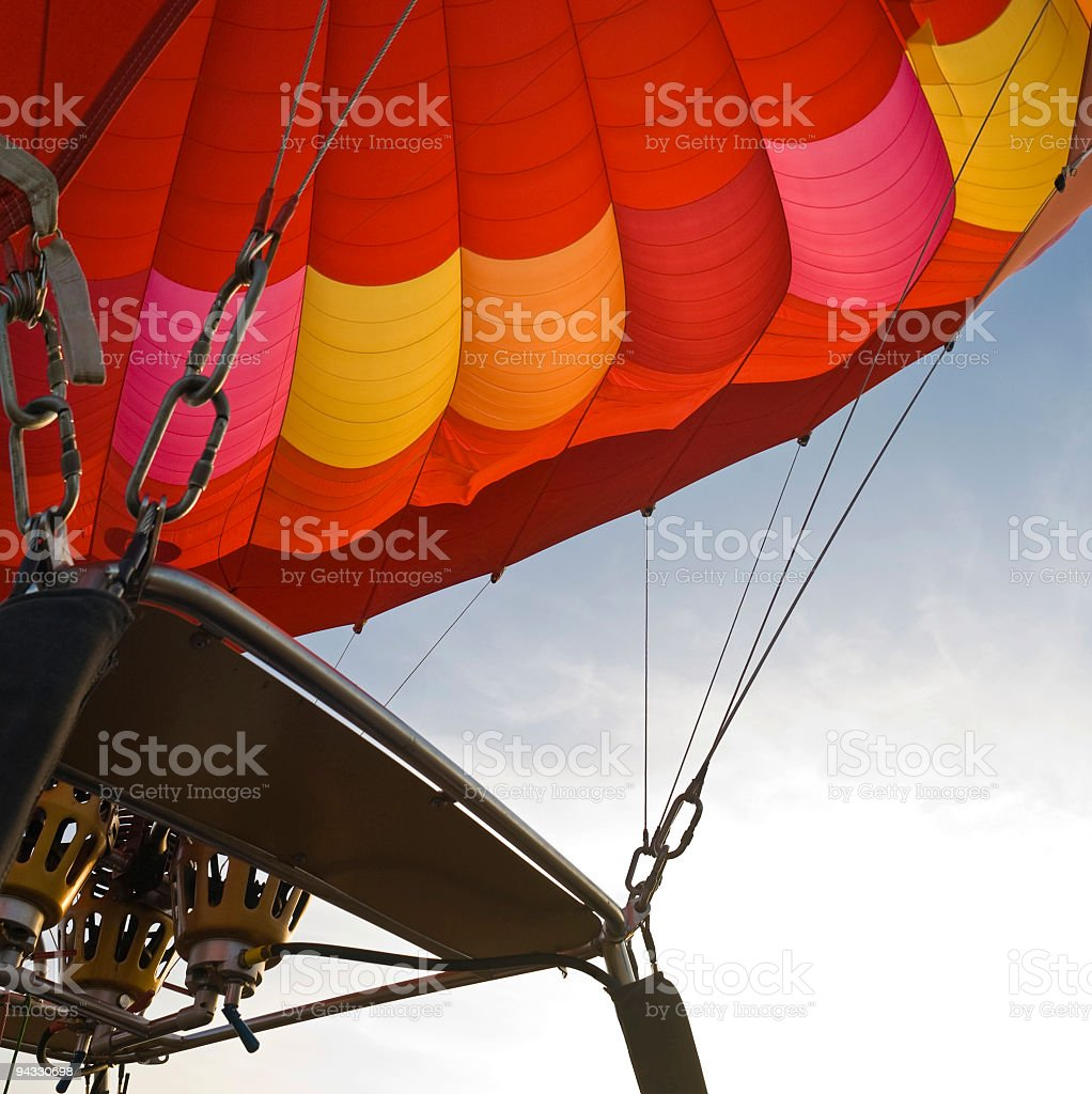 Red balloon and rigging royalty-free stock photo