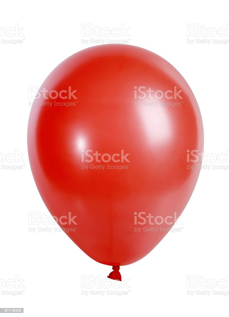 Red balloon isolated on white stock photo