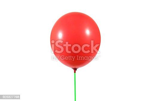 istock Red balloon isolated 925327768
