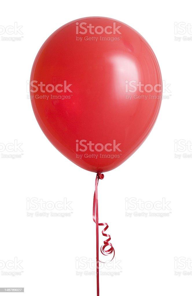 Red Balloon on White stock photo