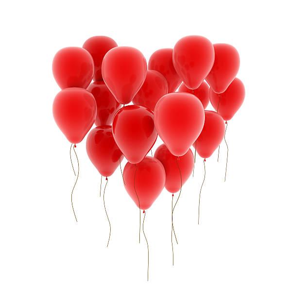 herzchenluftballon- - pictafolio stock-fotos und bilder