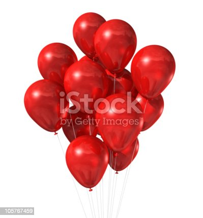 istock red balloons group isolated on white 105767459
