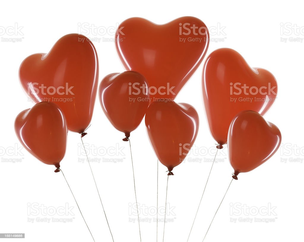 red balloons - hearts royalty-free stock photo