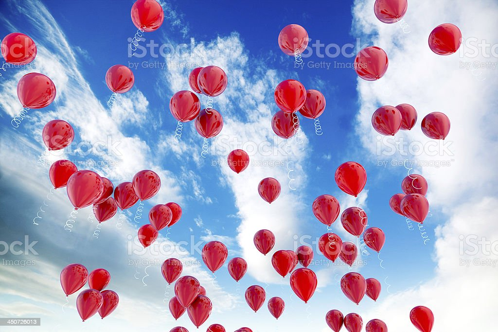Red balloons royalty-free stock photo