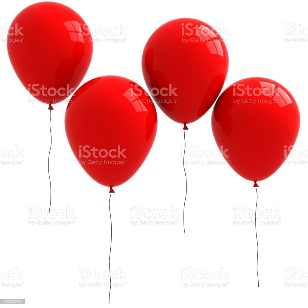 Rote Ballons  – Foto