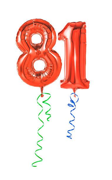 rote luftballons mit band - 81. - wie lange leben fliegen stock-fotos und bilder