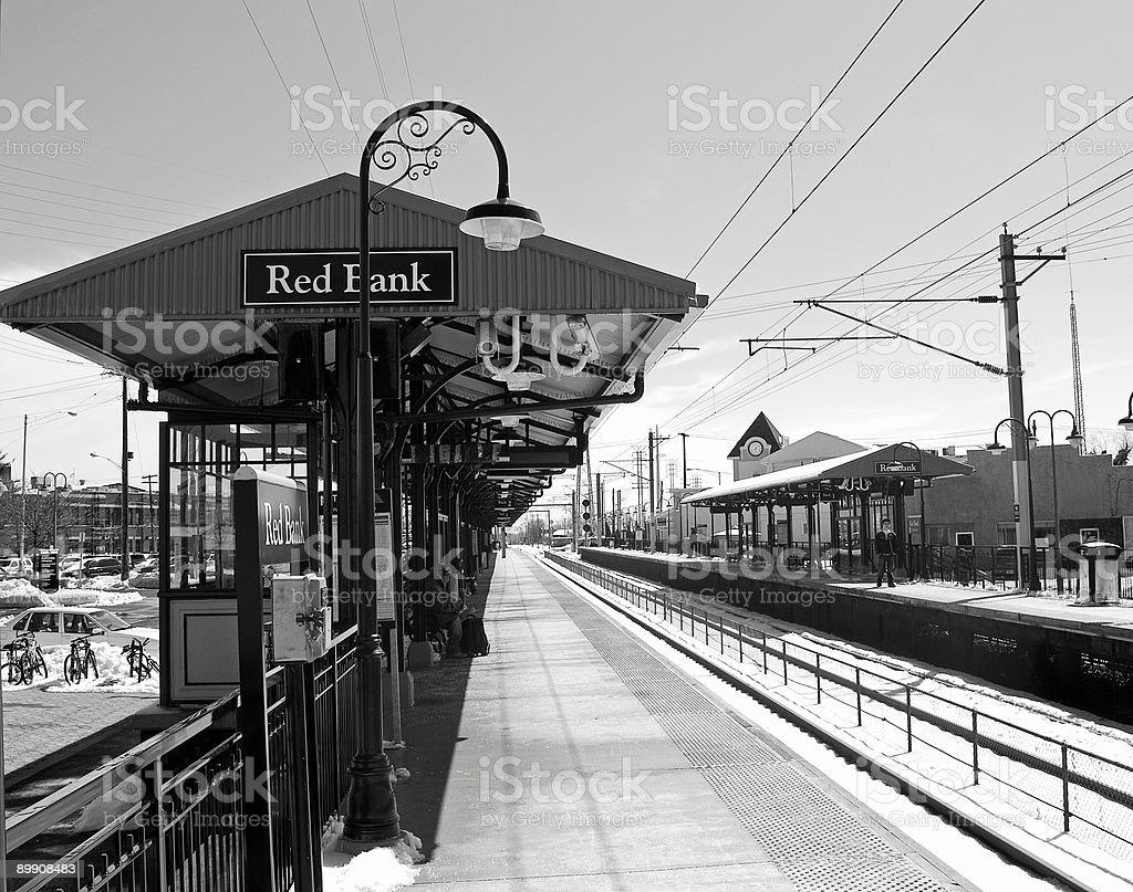 Красный станции Банк Стоковые фото Стоковая фотография