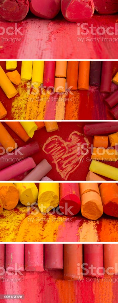red banners stock photo