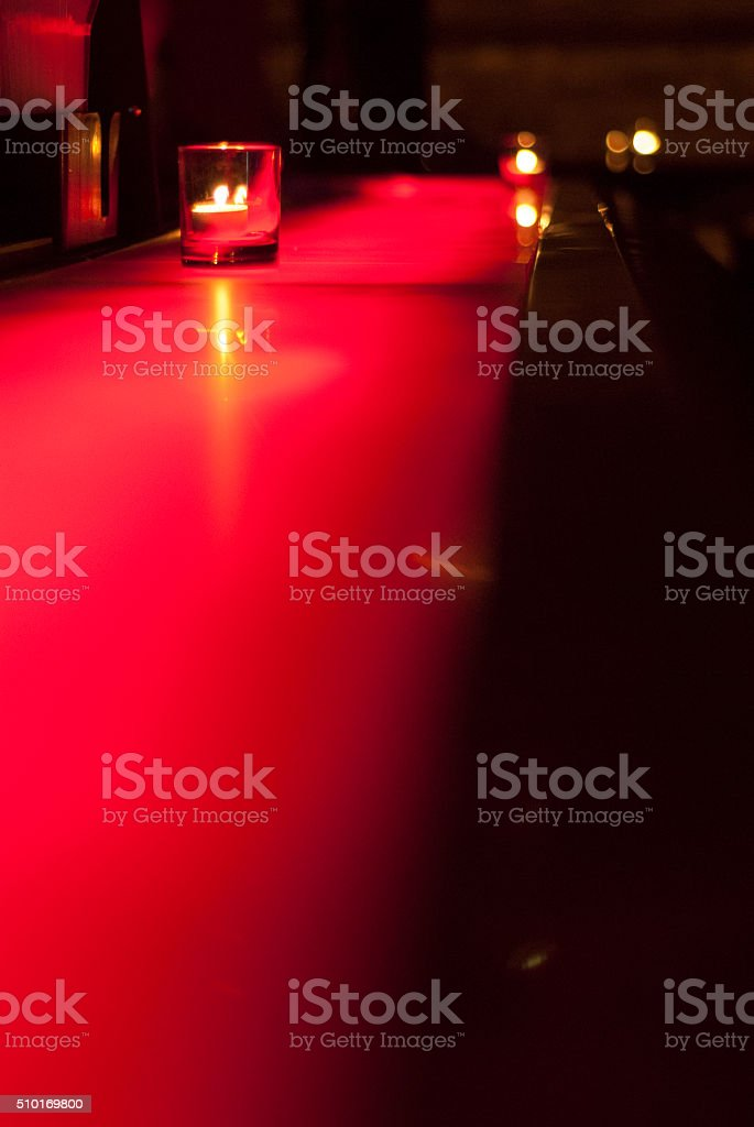 Red bar at a nightclub stock photo