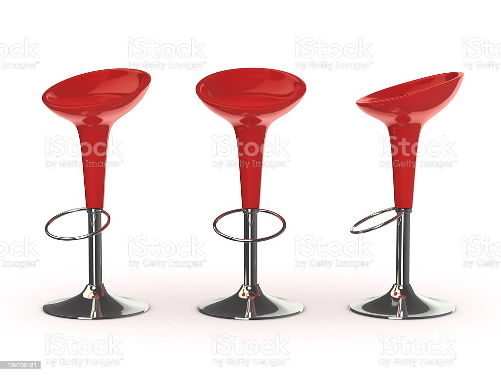 red bar chair stock photo