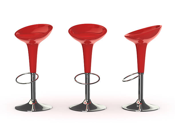 red bar chair red bar chair, clipping path included stool stock pictures, royalty-free photos & images
