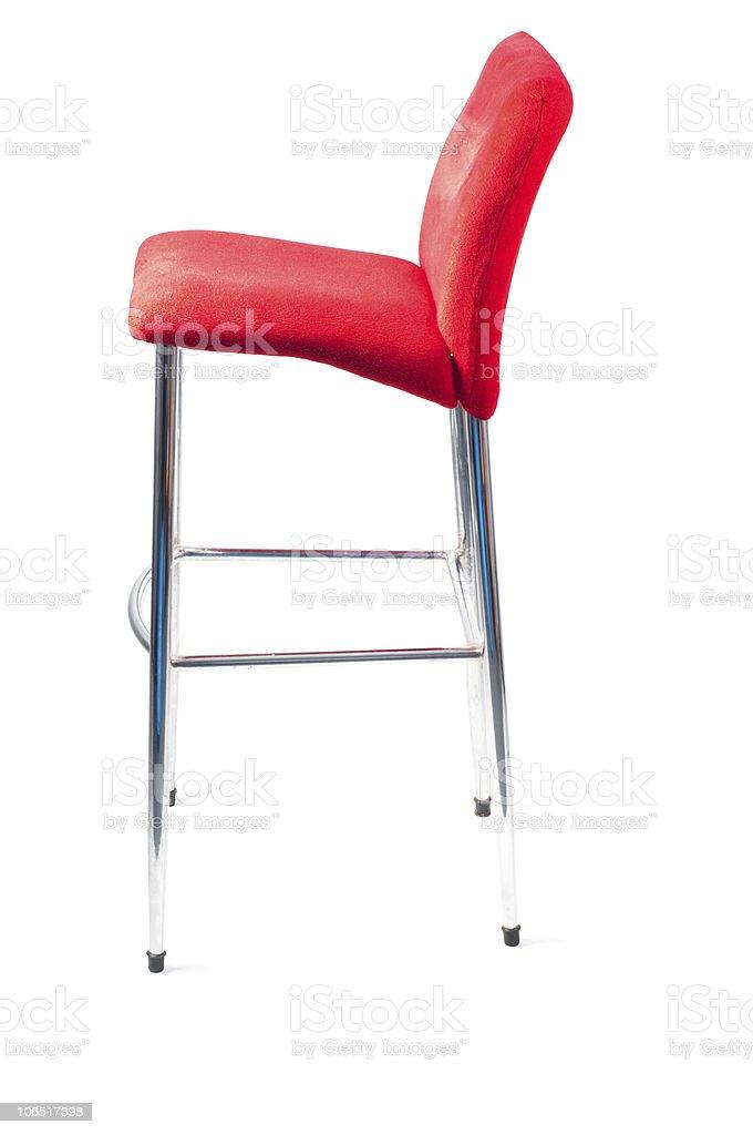Red bar stool royalty-free stock photo
