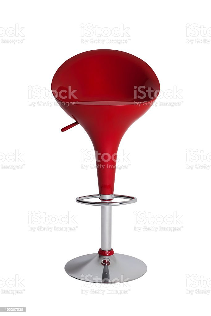 Red Bar Stool stock photo