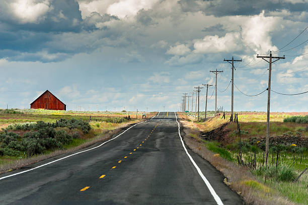 Red Barn and Road