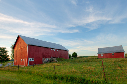 Red Barn at Sunrise-Miami County Indiana