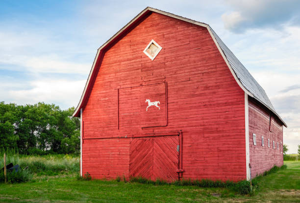 Grange rouge en Saskatchewan - Photo