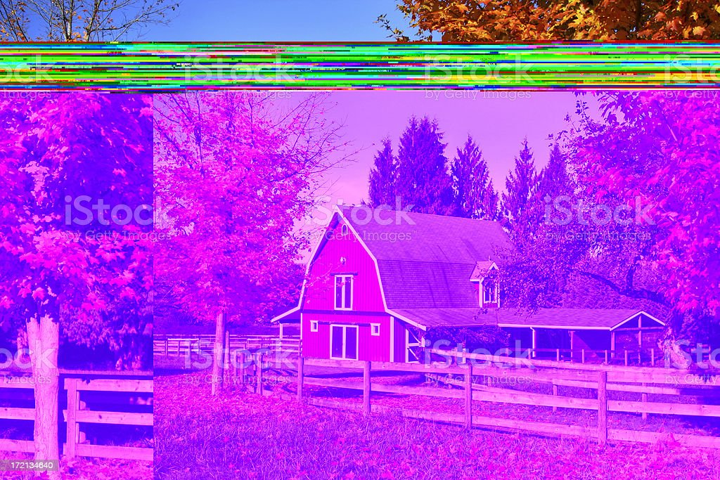 Red Barn in the Fall royalty-free stock photo
