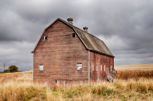 Rote Scheune des Oakesdale – Foto