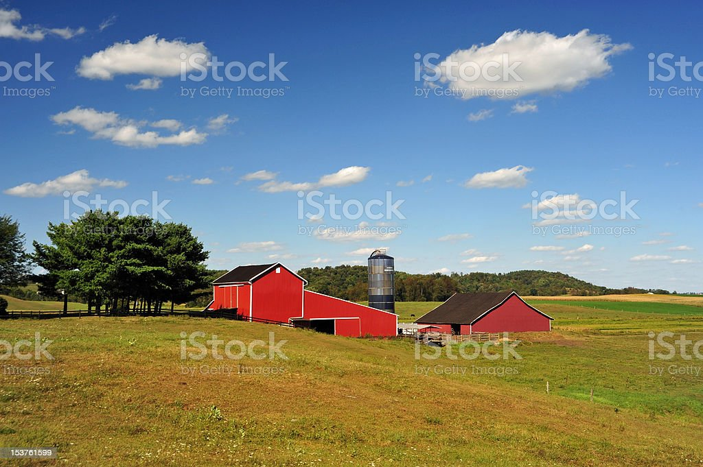 Red Barn royalty-free stock photo