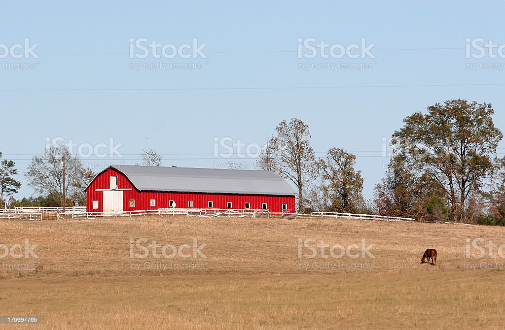 Red barn. stock photo