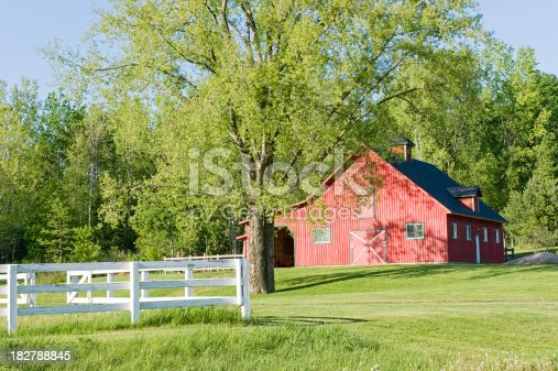Red barn on a ranch