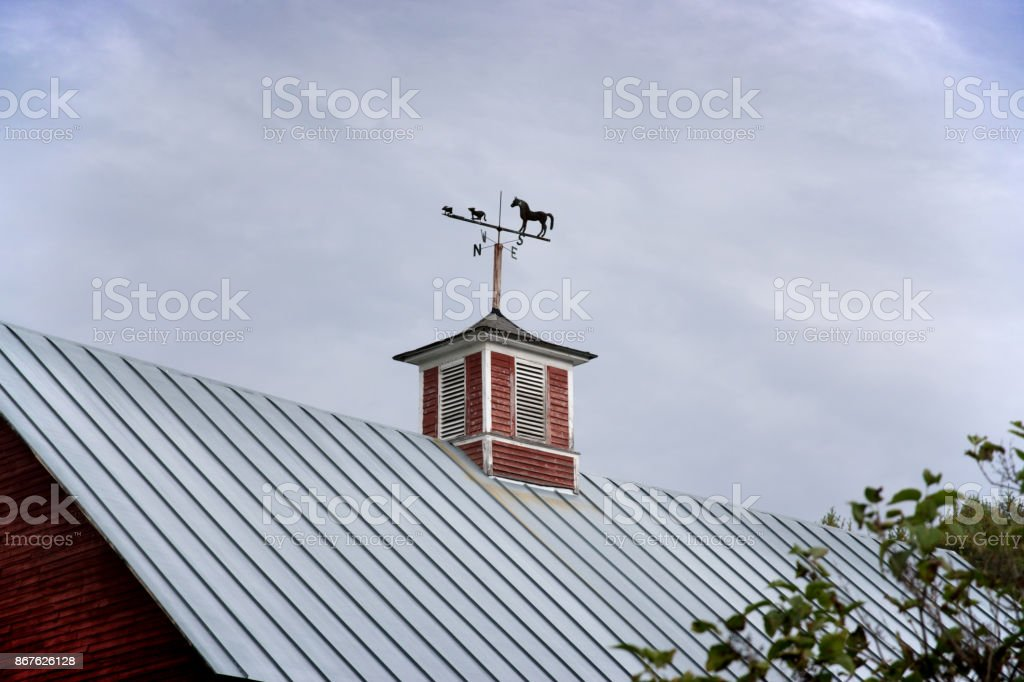 Red Barn stock photo