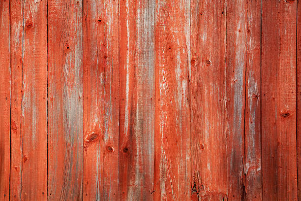 Red Barn Siding stock photo