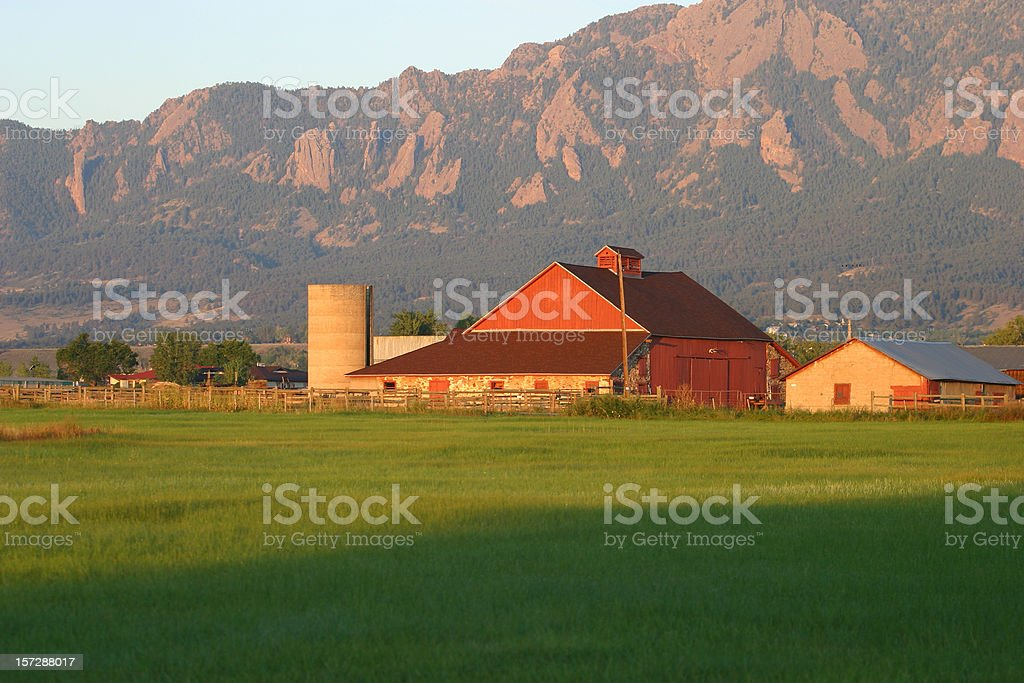Red Barn Sunrise royalty-free stock photo