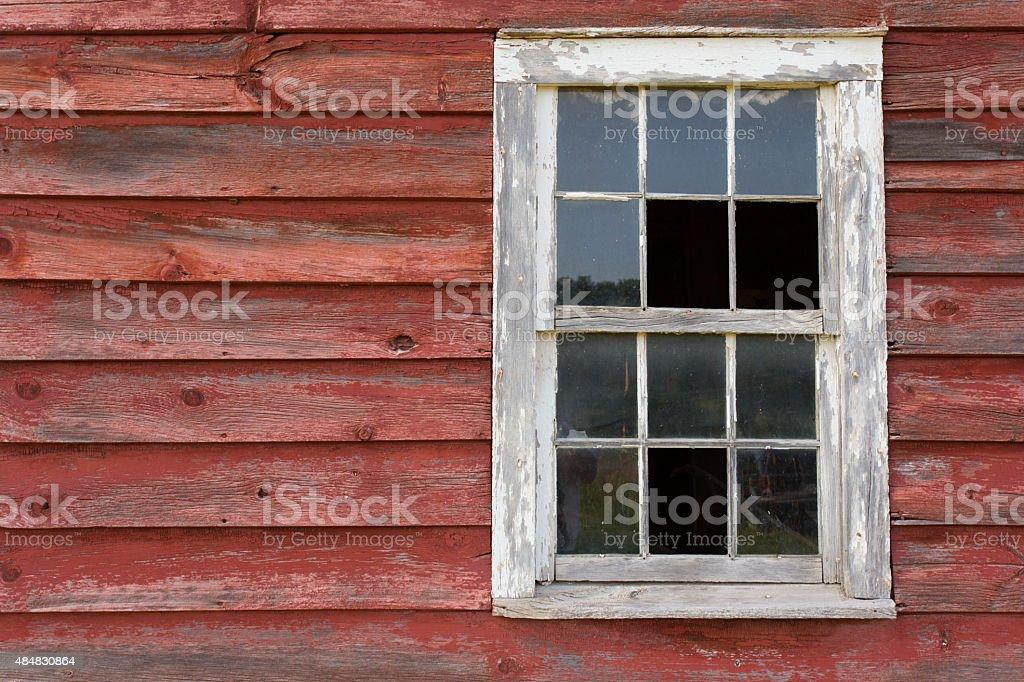 Red Barn Window stock photo