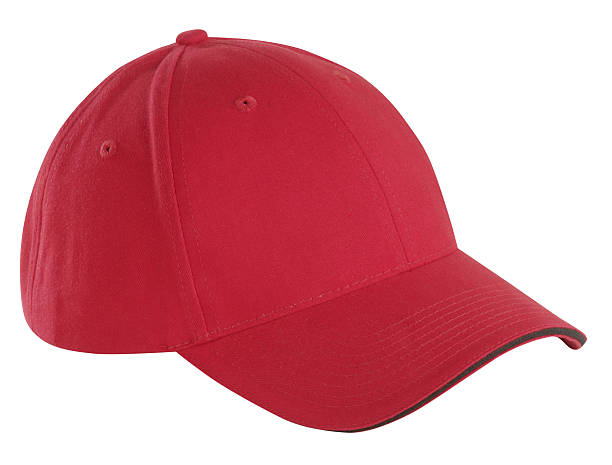Red Baseball Cap  baseball cap stock pictures, royalty-free photos & images