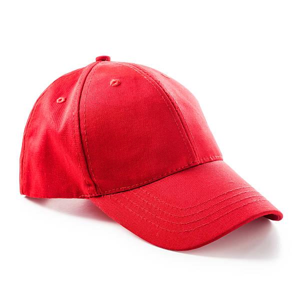 Rosso Berretto da baseball - foto stock