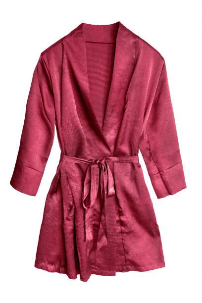 red bathrobe isolated - accappatoio foto e immagini stock