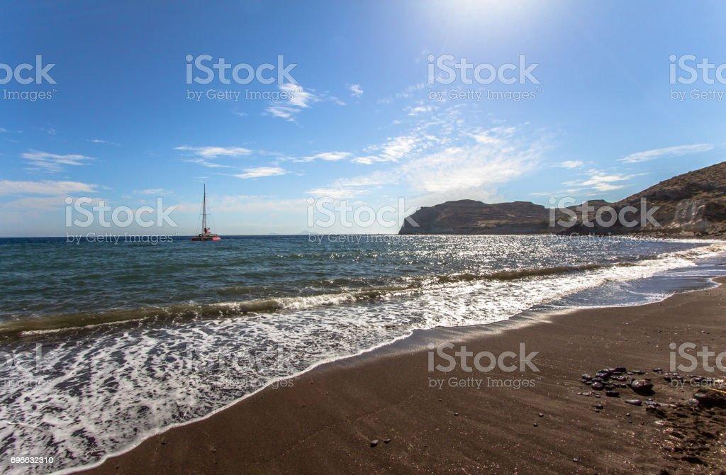 Red Beach Santorini Greece Stock Photo Download Image Now