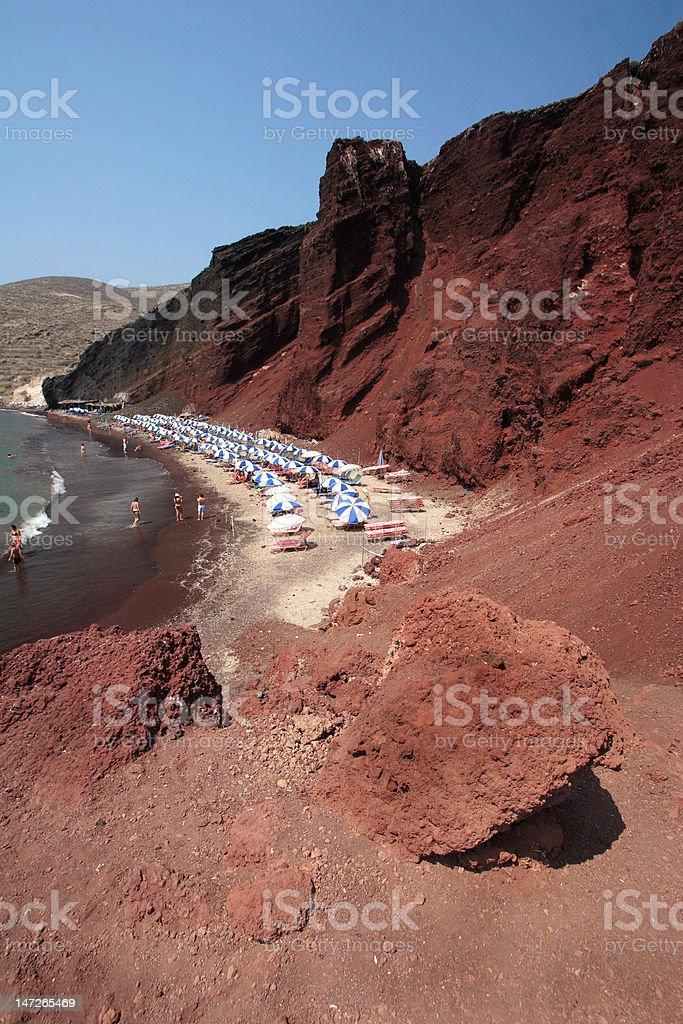 Red Beach, Santorini stock photo