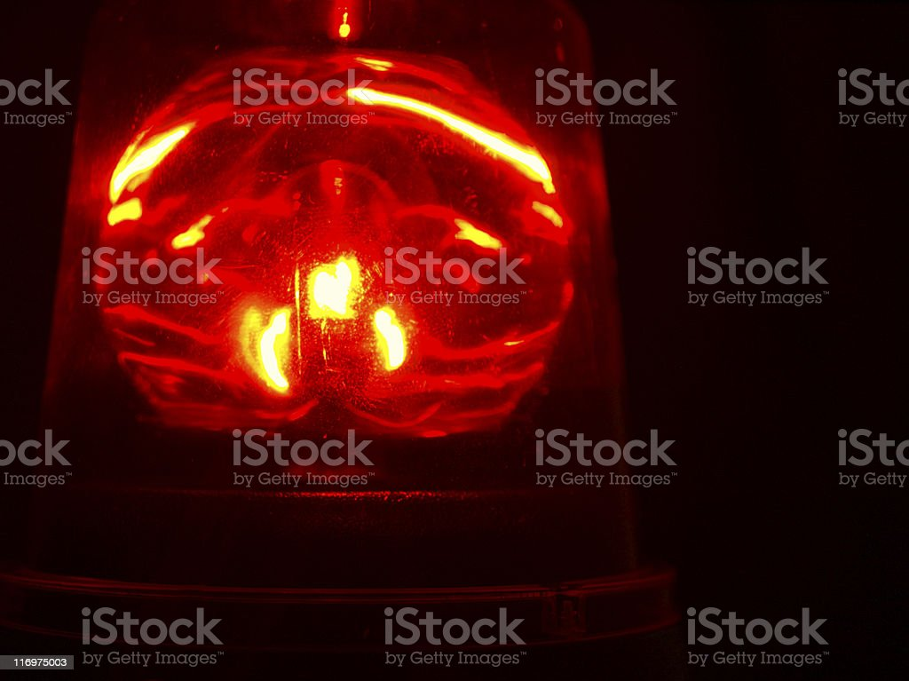 Red Beacon Light stock photo