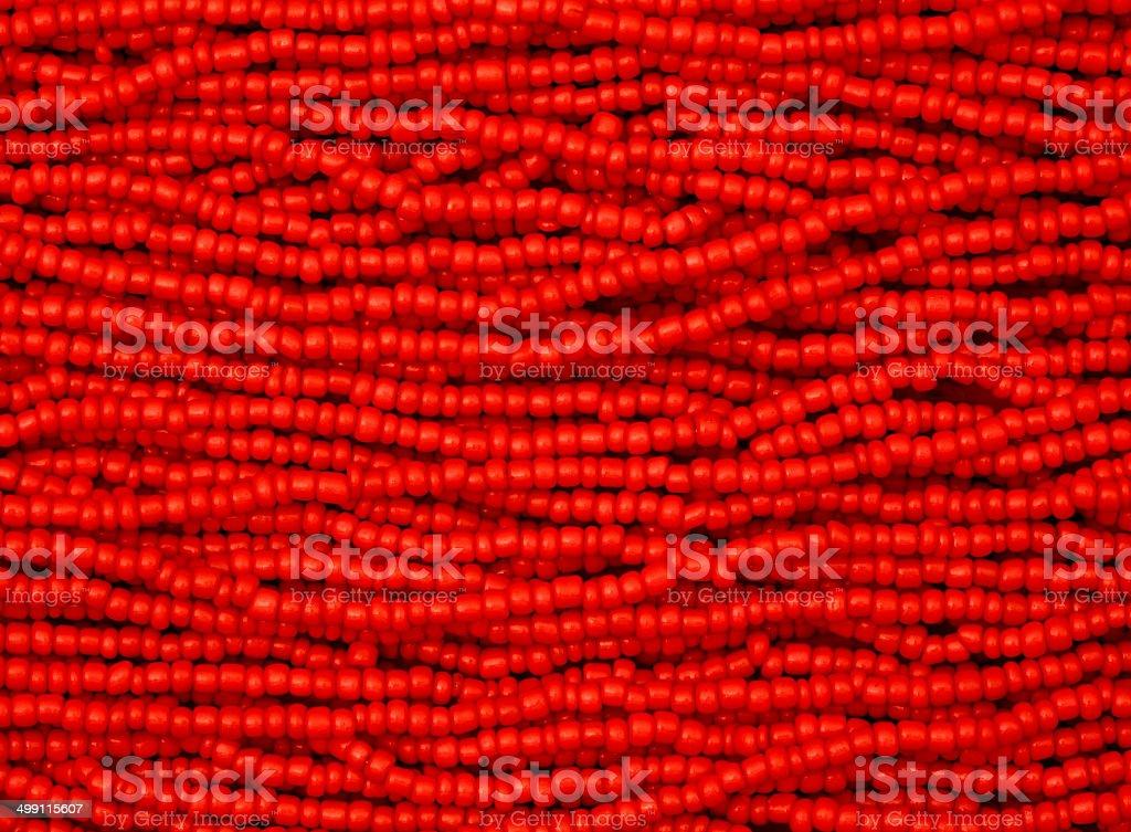 Red Beads Macro stock photo