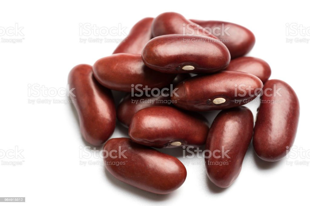 red bean isolated on white background royalty-free stock photo